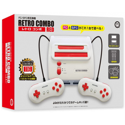 COLUMBUS CIRCLE - FC/SFC Retro Combo RED for Famicom & Super Famicom Games
