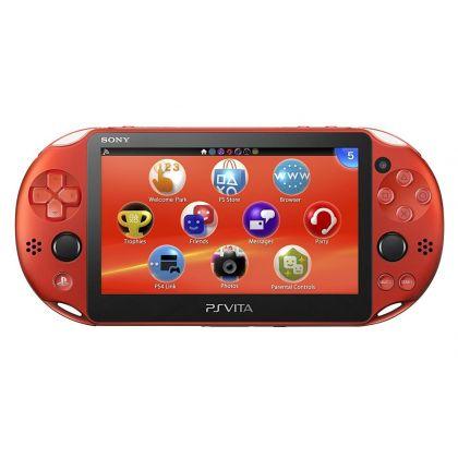 SONY PS VITA METALLIC RED WIFI PCH-2000ZA26 PLAYSTATION JAPANESE