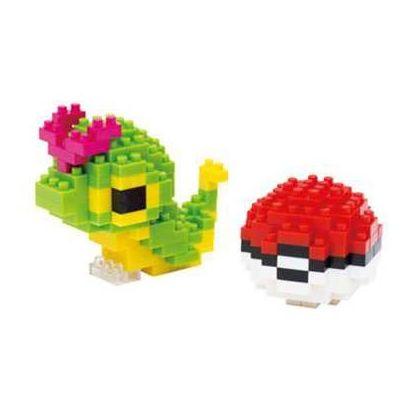 Nanoblock NBPM-010 Pokemon: Caterpie & Monster Ball