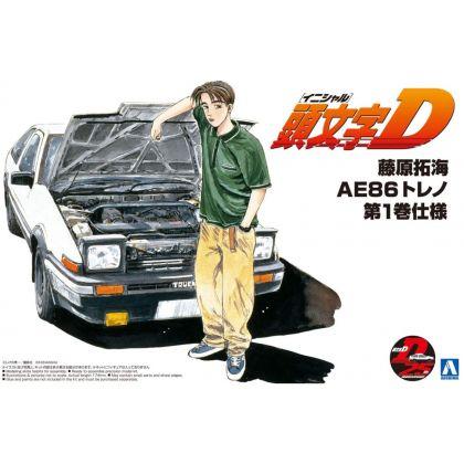 AOSHIMA Initial D No.05 Takumi Fujiwara 86 TRUENO vol.1ver. Plastic Model