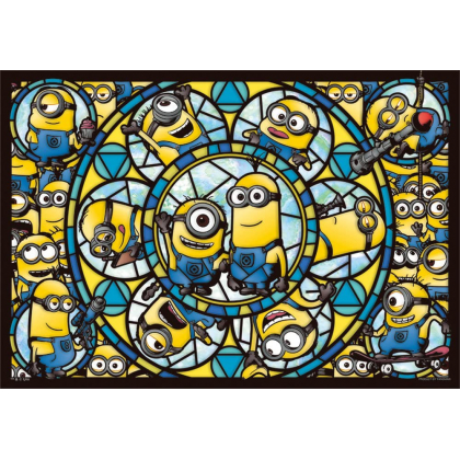 YANOMAN - MINIONS Jigsaw Puzzle Stained Glass 216 pièces 62-20
