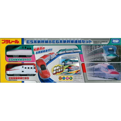TAKARA TOMY - Plarail Shinkansen Komachi Set E5 and E6 Series Express Train