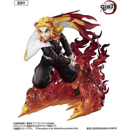 BANDAI Figuarts Zero Demon Slayer (Kimetsu no Yaiba): Mugen Ressha - Rengoku Kyojuro Flame Pillar Figure