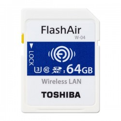 TOSHIBA SD-UWA064G Memory Card Wireless Lan Flash Air SDXC 64GB SD-UWA W-04