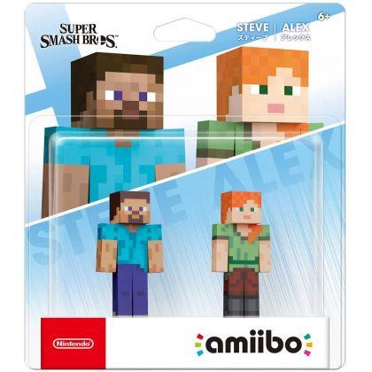 NINTENDO Amiibo - Steve & Alex Double Set (Super Smash Bros.)