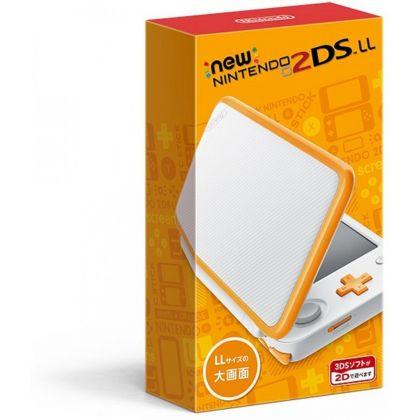 New Nintendo 2DS LL White x Orange