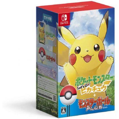 Pocket Monsters Let's Go ! Pikachu Ball Set Pack NINTENDO SWITCH