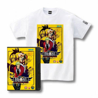 Romty ! Garou Mark Of the wolves MOW  T-shirt SNK  NEO GEO L SIZE AES BOX