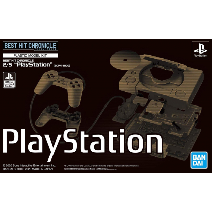 """BANDAI BEST HIT CHRONICLE """"PlayStation"""" (SCPH-1000) 2/5 Color Coded Plastic Model"""