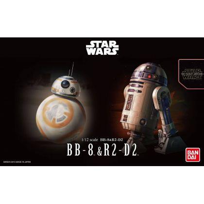 BANDAI Star Wars (The Force Awakens) BB-8 & R2-D2 Set Plastic Model Kit