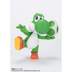 BANDAI SH Figuarts NINTENDO  Super Mario Yoshi painted action figure