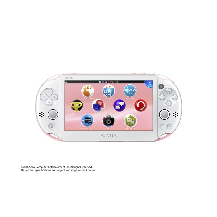 SCE Sony Computer Entertainment Inc. PlayStation Vita Wi-Fi blanche rose  PCH-2000ZA19