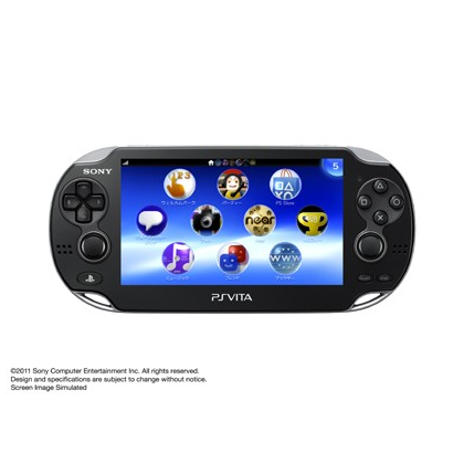 SCE Sony Computer Entertainment Inc. PlayStation Vita 3G / Wi-Fi Black Crystal Limited Edition PCH-1100 AB01
