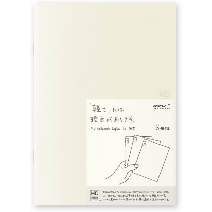 MIDORI - Cahier MD Light - Pages Rayure - A5 15213006 Set de 3 cahiers