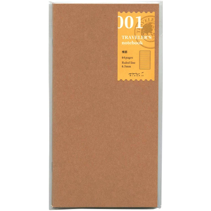 Travelers Notebook - Cahier Recharge 01 - Pages Rayure - 14245006