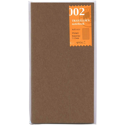 Travelers Notebook - Cahier Recharge 02 - Pages quadrillées 5mm - 14246006