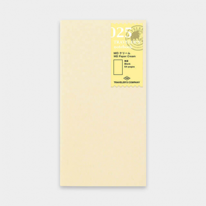 Travelers Notebook - Cahier Recharge 25 - MD Papier Créme - 14399006