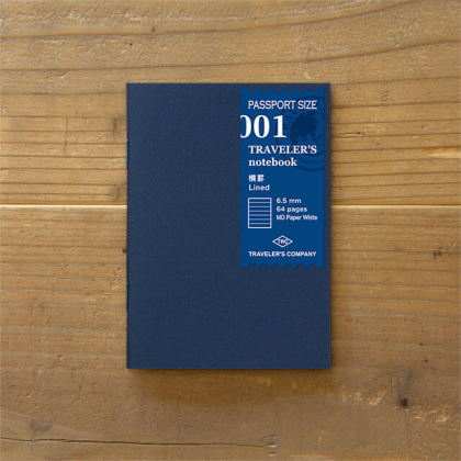 Travelers Notebook - Cahier Recharge 01 - Pages Rayure - 14368006