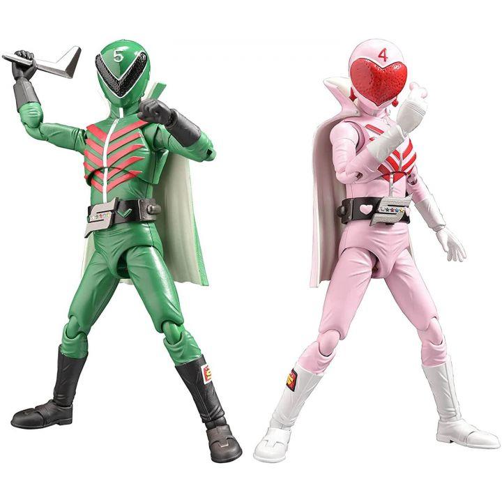 Evolution Toy - Hero Action Figure Series -Toei Ver. - Himitsu Sentai Gorenger - Momoranger & Midoranger Figure