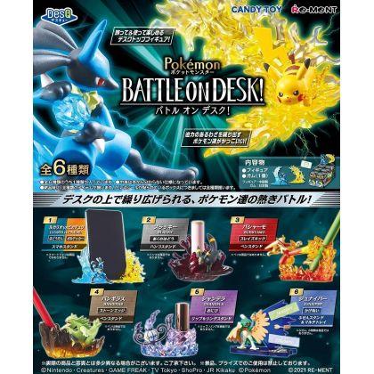RE-MENT Pokemon DesQ Battle on Desk Collection Box