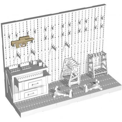 Tomytec Little Armory LD031 Weapons Room B Plastic Model Kit