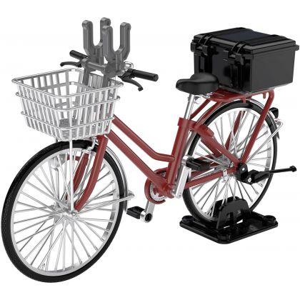 Tomytec Little Armory  LM005  School Bike  (Specified Defense School)  Maroon Plastic Model Kit
