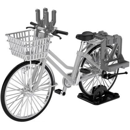Tomytec Little Armory  LM006  School Bike  (Specified Defense School)  Silver Plastic Model Kit