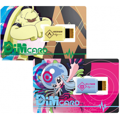 BANDAI Digimon Adventure - Digimon Ghost Game Dim Card Set -V2- Angoramon & Jellymon
